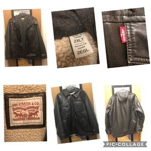 Levi Faux Leather Mid-weight Bomber Jacket 2XLT